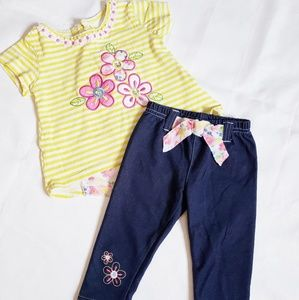 2-PC Shirt & Capri Set